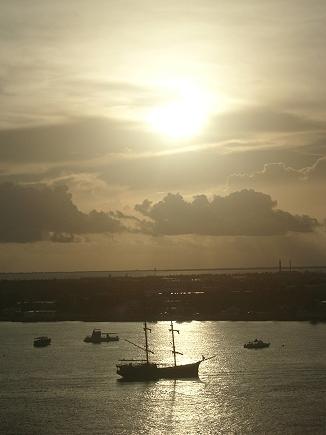 sunrise over Grand Cayman Island